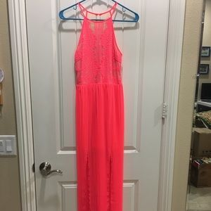 Lush Bright Pink Long Dress